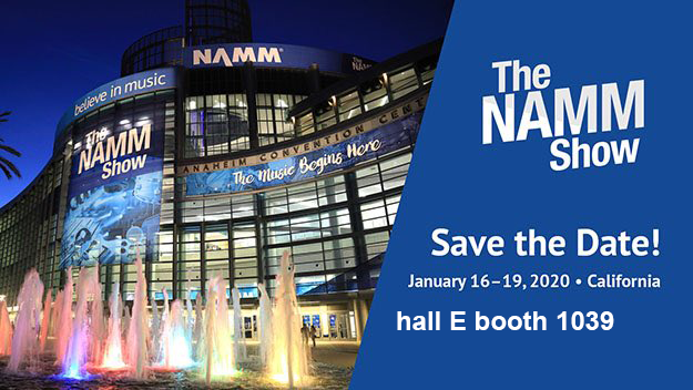 Meet us at 2020 NAMM Show hall E booth 1039
